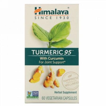 Himalaya, ターメリック95 クルクミン入り、ベジタリアンカプセル60錠