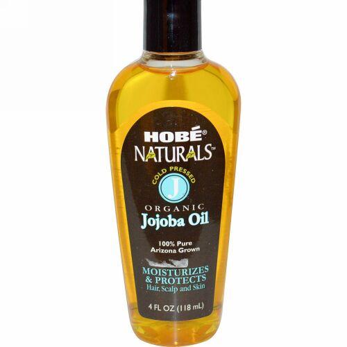 Hobe Labs, ナチュラルズ、有機ホホバオイル、4 fl oz (118 ml)
