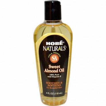 Hobe Labs, ナチュラルズ, スウィートアーモンドオイル, 4液量オンス (118 ml)