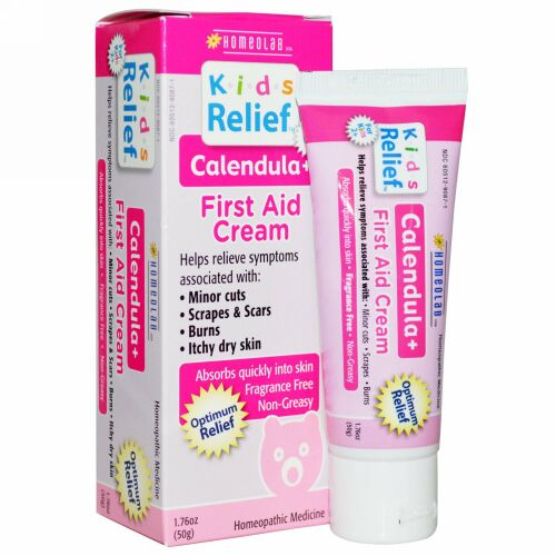 Homeolab USA, Kids Relief™(キッズ リリーフ)、応急処置クリーム、カレンデュラ他配合、 1.76オンス(50 g) (Discontinued Item)