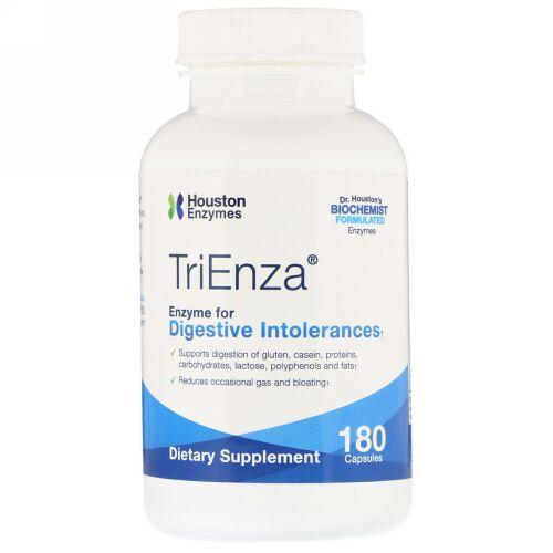 Houston Enzymes, トリエンザ、消化不良を解消する酵素、180粒