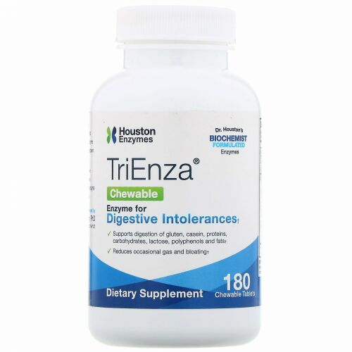 Houston Enzymes, TriEnzaチュアブル、180チュアブル錠