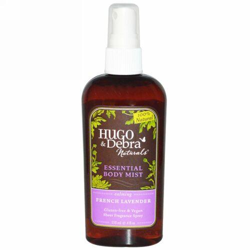 Hugo Naturals, エッセンシャルボディミスト、フレンチラベンダー、4 fl oz (118 ml) (Discontinued Item)