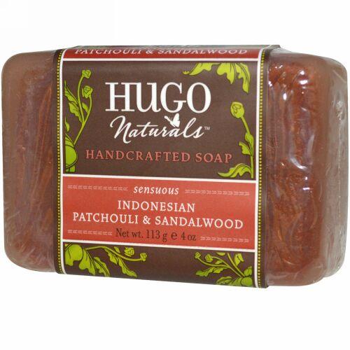 Hugo Naturals, ハンドクラフテッドソープ、インドネシアパチョリ&サンダルウッド、4 oz (113 g) (Discontinued Item)