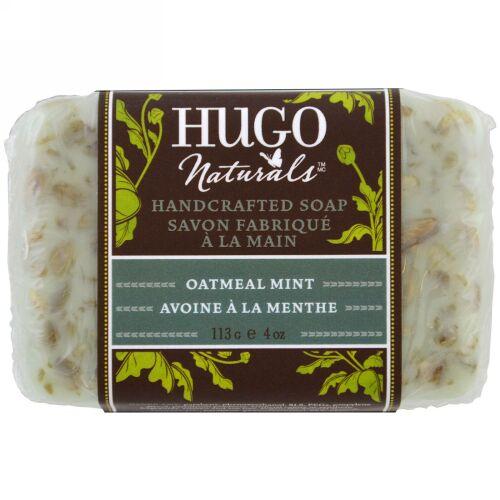 Hugo Naturals, ハンドクラフテッドソープ、オートミール ミント、4 oz (113 g) (Discontinued Item)