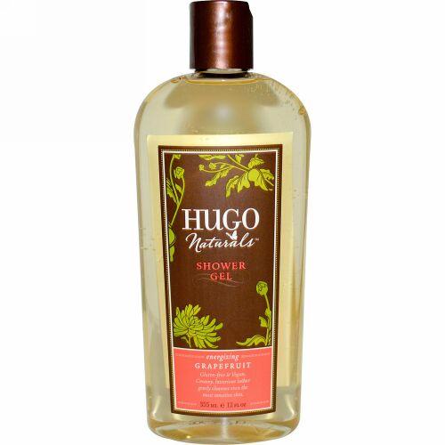Hugo Naturals, シャワージェル, グレープフルーツ, 12 液量オンス (355 ml) (Discontinued Item)