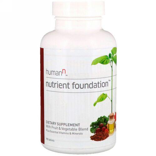HumanN, ニュートリエント・ファンデーション、必須ビタミンとミネラル入りタブレット90錠 (Discontinued Item)