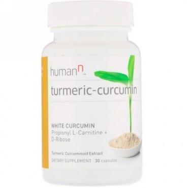 HumanN, ターメリック-クルクミン、ターメリック由来のクルクミンエキス、カプセル30錠 (Discontinued Item)