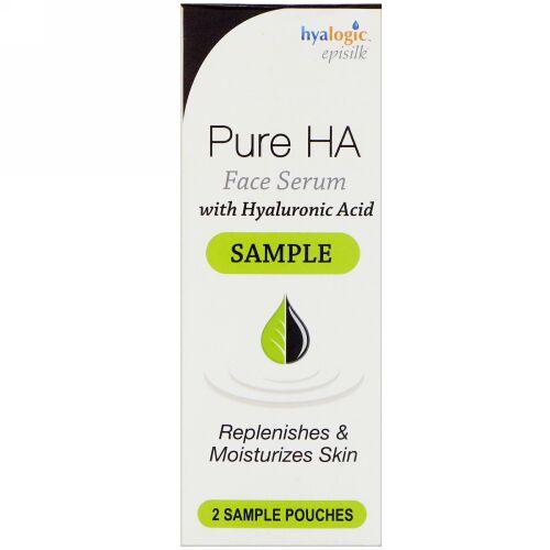 Hyalogic, エピシルク、ヒアルロン酸配合ピュアHAフェイスセラム、サンプルパウチ2袋 (Discontinued Item)