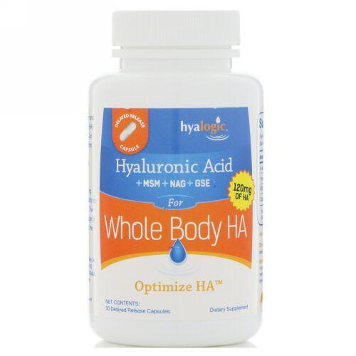 Hyalogic, オプティマイズ HA、全身にヒアルロン酸を供給、遅延放出性カプセル30粒 (Discontinued Item)