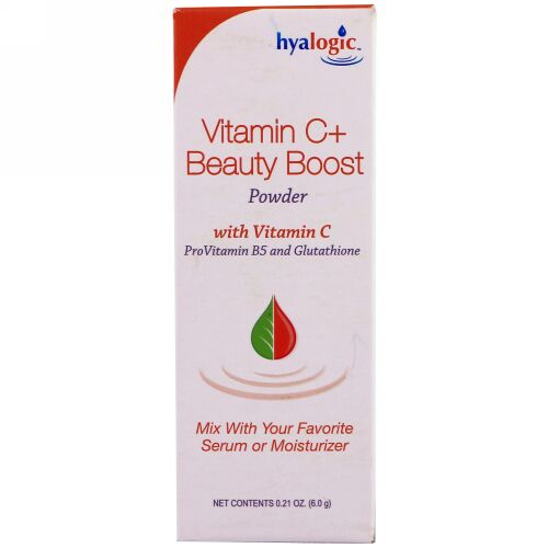 Hyalogic, Vitamin C+ Beauty Boost Powder, .21 oz (6.0 g) (Discontinued Item)