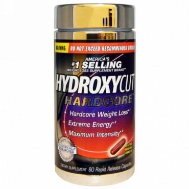 Hydroxycut, Hardcore、ラピッド・リリース・カプセル 60 錠 (Discontinued Item)