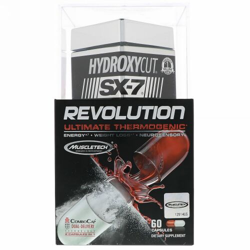Hydroxycut, SX-7 Revolution, Ultimate Thermogenic, 60 Capsules (Discontinued Item)