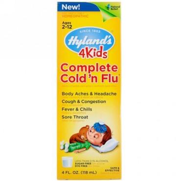Hyland's, 4 Kids, Complete Cold 'n Flu, Ages 2-12, 4 fl oz (118 ml) (Discontinued Item)