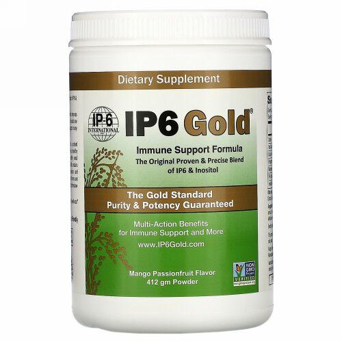 IP-6 International, IP6 Gold(IP6ゴールド)、イミューンサポートフォーミュラ粉末、マンゴーパッションフルーツ味、412g
