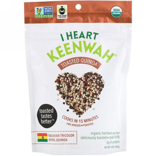 I Heart Keenwah, 焼きキノア, ボリビア産トリコロールロイヤルキノア, 12 oz (340 g) (Discontinued Item)