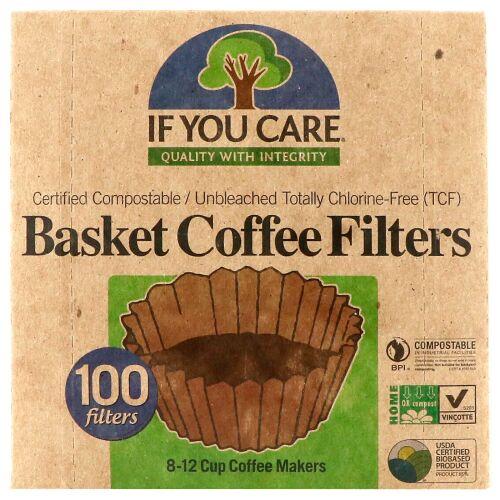 If You Care, バスケットコーヒーフィルター、100枚 (Discontinued Item)