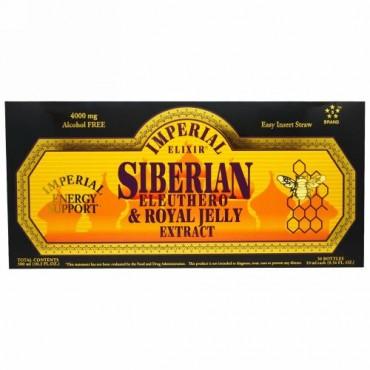 Imperial Elixir, シベリアンエレウテロ & ローヤルゼリーエキス, アルコールフリー, 4000 mg, 30 ボトル, 各 0.34 液量オンス (10 ml)