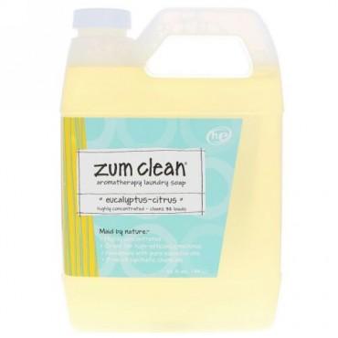 Indigo Wild, Zum Clean, Aromatherapy Laundry Soap, Eucalyptus-Citrus, 32 fl oz (.94 L) (Discontinued Item)