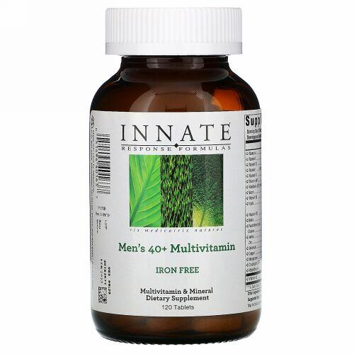 Innate Response Formulas, 40代からの男性用マルチビタミン、鉄分不使用、120粒