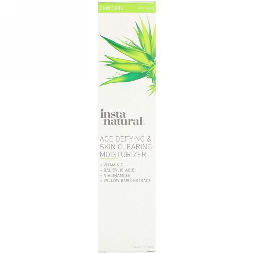 InstaNatural, Age Defying & Skin Clearing Moisturizer, Anti-Aging, 1.5 fl oz (44 ml) (Discontinued Item)