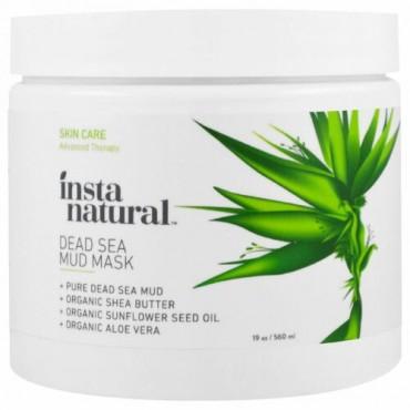 InstaNatural, シアバター入り死海の泥マスク、フェイス & ボディー、19 oz (560 ml) (Discontinued Item)