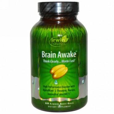 Irwin Naturals, Brain Awake、60 液状ソフトジェル