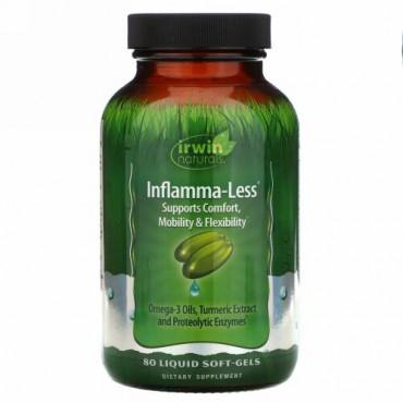Irwin Naturals, Inflamma-Less、リキッド・ソフトジェル80錠