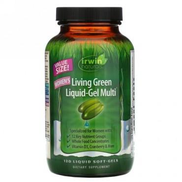 Irwin Naturals, ウーマンズリビンググリーン液体ジェルマルチ、 120液体ソフトジェル