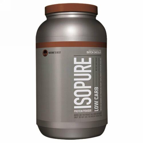Isopure, Isopureロー・カーボ・プロテインパウダー、ダッチ・チョコレート、 3 lb. (1361 g)