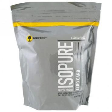 Isopure, ゼロカーボ(炭水化物0g)プロテインパウダー、バナナクリーム味、454g(1ポンド)