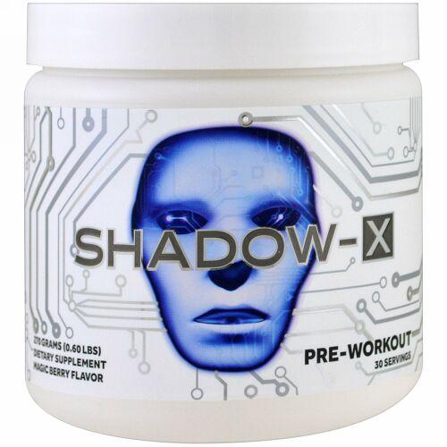 JNX Sports, Shadow-Xプレワークアウト、マジックベリーフレーバー、0.60ポンド (270 g) (Discontinued Item)