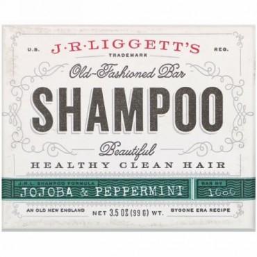 J.R. Liggett's, Old Fashioned Shampoo Bar, Jojoba & Peppermint, 3.5 oz (99 g)