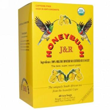 J&R Port Trading Co., Honeybush, 40 Tea Bags, 3.53 oz (100 g) (Discontinued Item)
