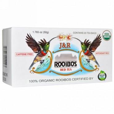 J&R Port Trading Co., J&R ルイボスレッドティー, カフェインフリー, ティーバッグ 20袋, 1.765 オンス (50 g)