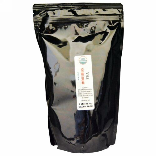 J&R Port Trading Co., オーガニックルイボスティー, カフェインフリー, 1ポンド(454 g)
