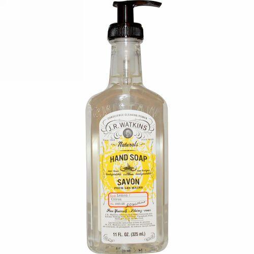 J R Watkins, 自然ハーブソープ、レモン、 11液量オンス (325 ml) (Discontinued Item)