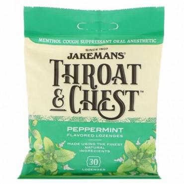 Jakemans, 喉と胸に、ペパーミント味、薬用ドロップ30個 (Discontinued Item)