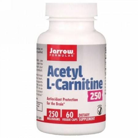 Jarrow Formulas, Acetyl L-Carnitine 250, 250 mg, 60 Veggie Caps (Discontinued Item)