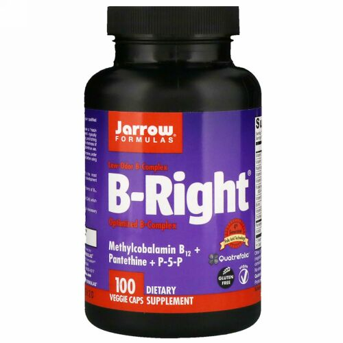 Jarrow Formulas, B-Right、植物性カプセル 100粒