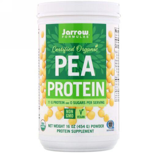 Jarrow Formulas, 認定オーガニックエンドウ豆タンパク質、454 g(16 oz)