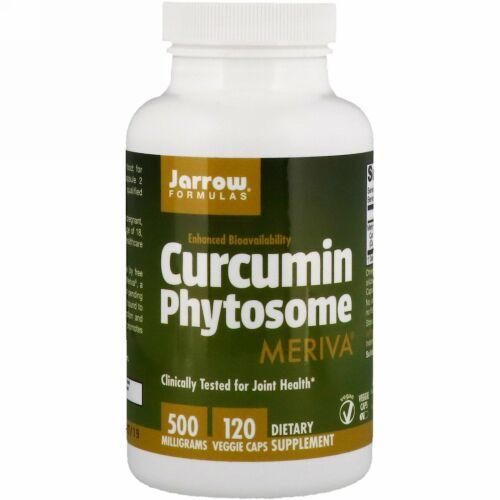 Jarrow Formulas, Meriva(メリーバ)配合Curcumin(クルクミン)Phytosome(フィトソーム)、500mg、ベジカプセル120粒