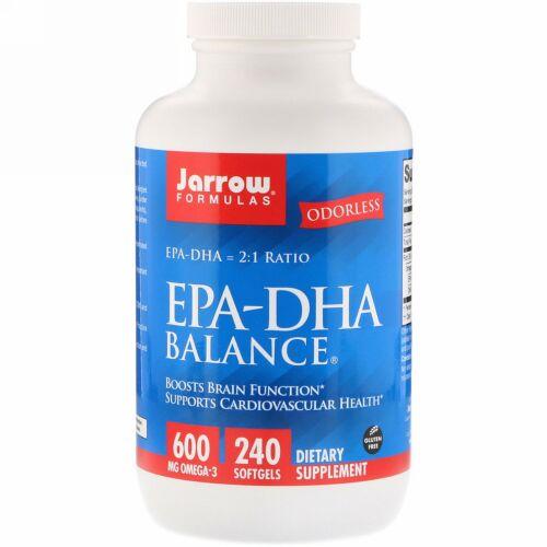 Jarrow Formulas, EPA-DHA Balance(EPA-DHAバランス)、ソフトジェル240粒