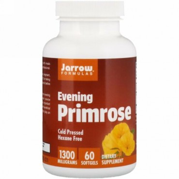 Jarrow Formulas, マツヨイグサ、1300 mg、ソフトジェル 60粒
