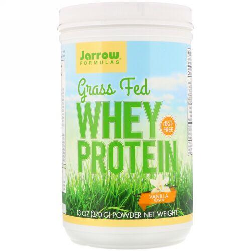Jarrow Formulas, グラスフェッドホエイタンパク質、バニラ味、370 g(13 oz)