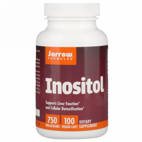 Jarrow Formulas, イノシトール、750 mg、植物性カプセル 100粒