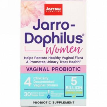 Jarrow Formulas, ジャロ-ドフィルス、膣内プロバイオティクス、女性用、腸溶性ベジキャップ30錠