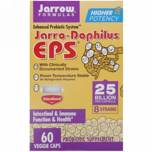 Jarrow Formulas, Jarro-Dophilus EPS, 25 Billion, 60 Veggie Caps