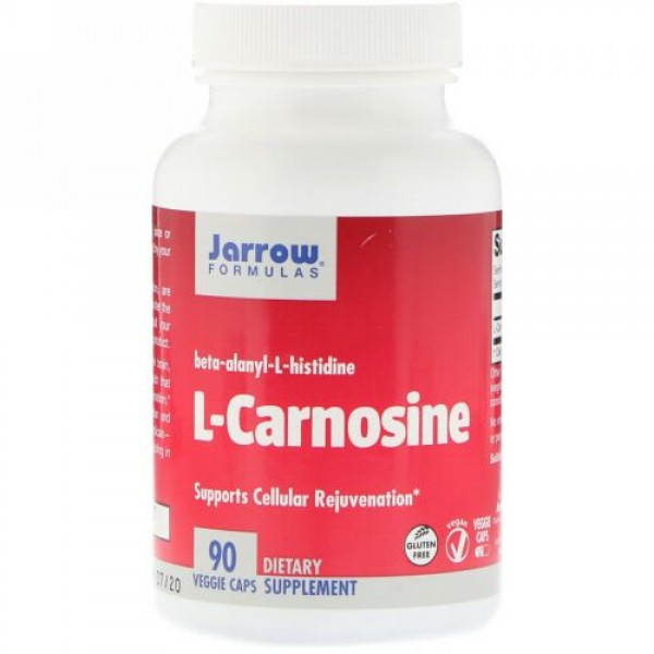 Jarrow Formulas, L-カルノシン、ベジカプセル90粒