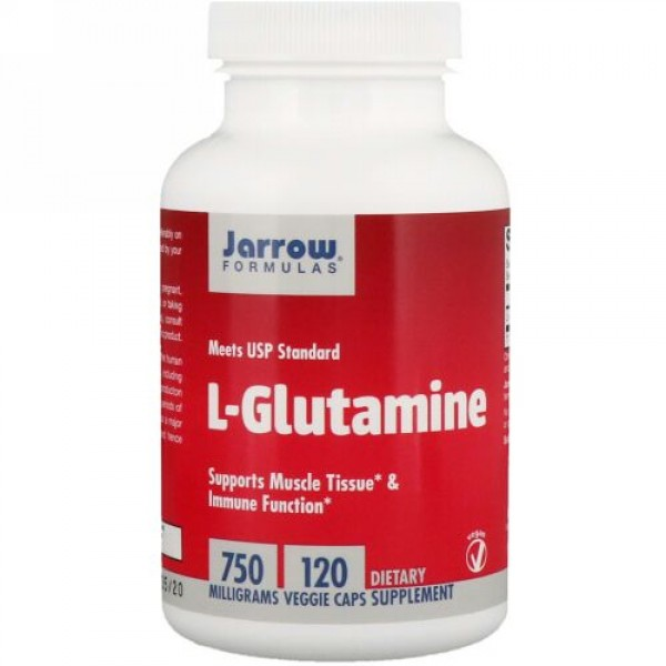 Jarrow Formulas, L-グルタミン、750mg、植物性カプセル120粒